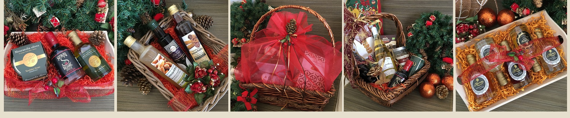 Christmas Gift Baskets with Cretan goods