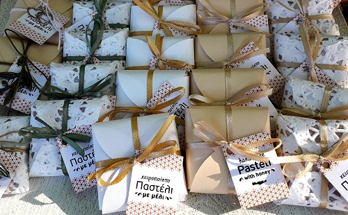 Greek Pasteli with Honey Wedding Christening Treat