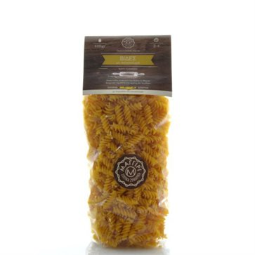 Cretan fussili pasta with tourmeric