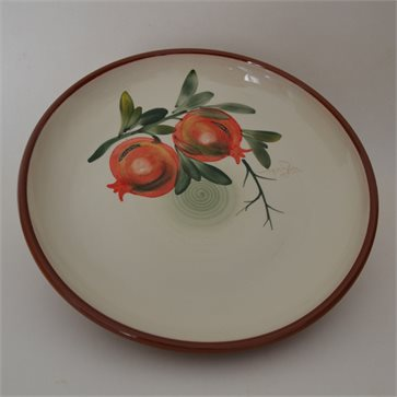 Ceramic Handmade Salad Bowl 'POMEGRANATE' 28cm Limberidis Ceramics
