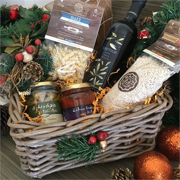 Traditional Cretan meal Christmas Gift Basket