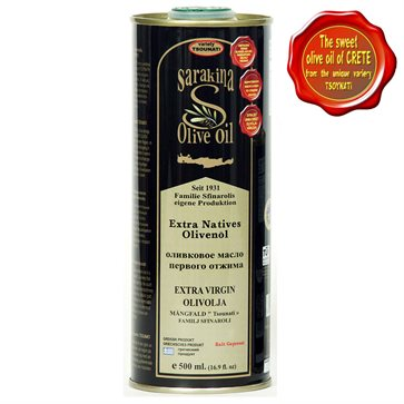 Sarakina can 500ml Extra Virgin Tsounato Olive Oil