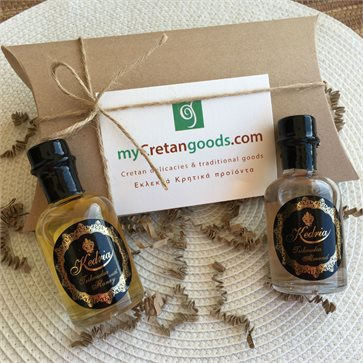 Tsikoudia mini bottle 50ml Welcome Gift Box