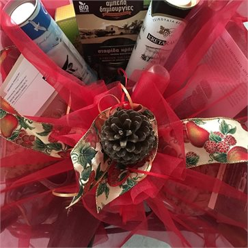 Gift Card for Christmas gift basket with Cretan products