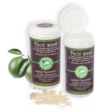 Face Mask with Green Clay for Deep Cleansing Bioaroma