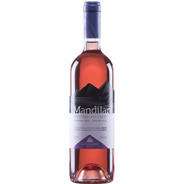 Mandilari Rose Dry Wine by Lyrarakis winery
