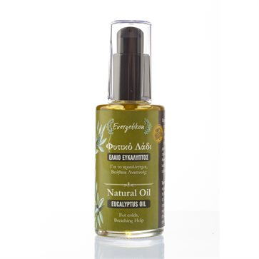Eucalyptus Natural Oil for colds Evergetikon