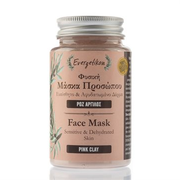 Natural Face mask with pink clay Evergetikon