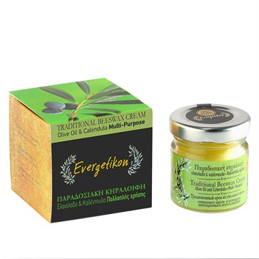 Traditional Olive oil & Beeswax Cream with Calendula oil Evergetikon