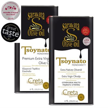 Sarakina can 4L Extra Virgin Tsounato Olive Oil