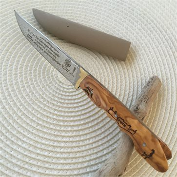 Τraditional Cretan Knife with olive wood handle
