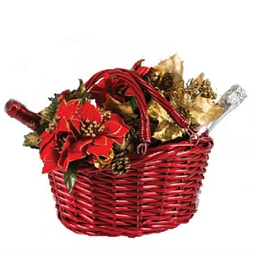 Red Gift Basket for Christmas Gifts