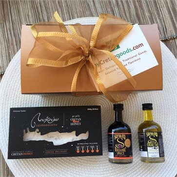 Congress gift - 5 Cretan products in gift bag