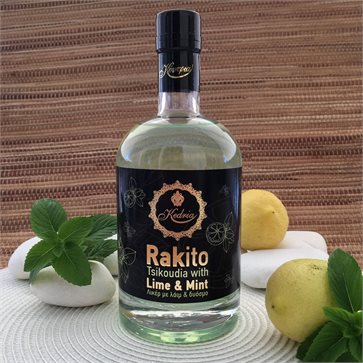 Rakito - Cretan Raki Tsikoudia with Lime and Mint by KEDRIA Distillery