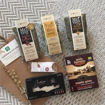 Cretan Delicacies & Herbs in gift bag - Congress Gift
