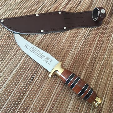 Luxurious Cretan Knife with Leather Handle 24cm