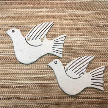 Handmade Ceramic Doves (Pigeons)- Set of 2