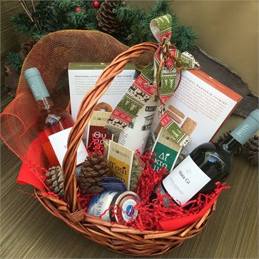 Christmas Gift Basket - Cretan Wines Idaia Land