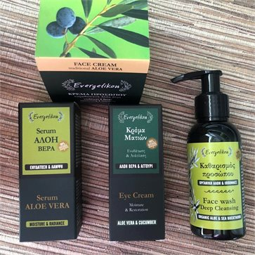 Evergetikon Natural Face Care with Olive oil & Aloe Vera