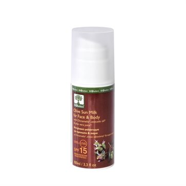 Bioselect Olive Sun Milk For Face & Body SPF 15