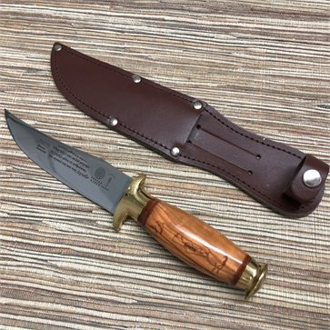 Cretan Knife Τraditional Dagger Olive Wood Bronze Handle 24cm