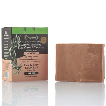 Natural Olive Oil Soap with Pink Clay Evergetikon