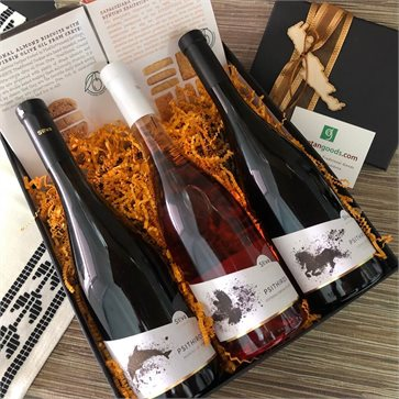 Cretan Gift Box Psithiros Wines & Dear Crete Biscuits