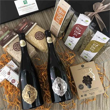 Cretan gift set with Sera wines & Cretan delicacies