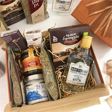 Cretan goodies box with 7 traditional products
